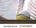 safety hat for worker  sign of... | Shutterstock . vector #574249855