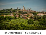 in the very heart of tuscany  ... | Shutterstock . vector #574253431