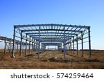 construction of steel structure | Shutterstock . vector #574259464