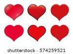 hearts icon set. different... | Shutterstock .eps vector #574259521