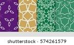 set of decorative floral... | Shutterstock .eps vector #574261579