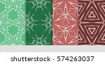 set of flower  geometric...   Shutterstock .eps vector #574263037