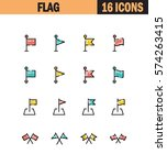 flag flat icon set. collection...