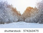 winter road in the forest | Shutterstock . vector #574263475