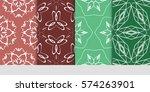 set of flower  geometric...   Shutterstock .eps vector #574263901