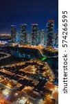 night cityscape at songdo...   Shutterstock . vector #574266595