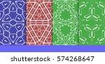 set of decorative floral...   Shutterstock .eps vector #574268647