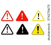vector illustration of warning... | Shutterstock .eps vector #574270675