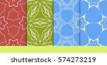 set of seamless texture of... | Shutterstock .eps vector #574273219