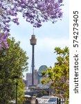 sydney skyline with sydney... | Shutterstock . vector #574273405