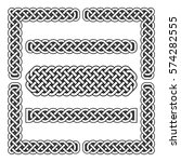 celtic knots vector medieval... | Shutterstock .eps vector #574282555