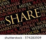 share word cloud  technology... | Shutterstock .eps vector #574283509