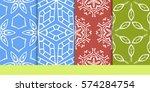 set of seamless texture of...   Shutterstock .eps vector #574284754