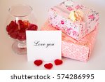 note love you   the gifts and... | Shutterstock . vector #574286995