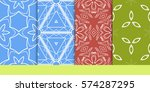 set of seamless texture of... | Shutterstock .eps vector #574287295