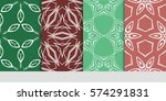 set of decorative geometric... | Shutterstock .eps vector #574291831