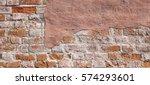 Grunge Brickwall With Broken...