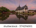 sanphet prasat throne hall ... | Shutterstock . vector #574296001