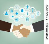 business handshake for deal and ... | Shutterstock .eps vector #574296049