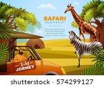 Safari Colored Poster With Big...