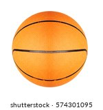 orange basketball ball isolated ... | Shutterstock . vector #574301095