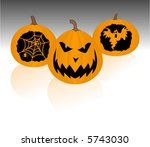 a trio of jack o lanterns | Shutterstock .eps vector #5743030