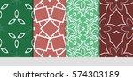 set of decorative geometric... | Shutterstock .eps vector #574303189