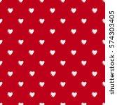 valentines day seamless...   Shutterstock .eps vector #574303405