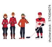 canadian policeman  lumberjack... | Shutterstock .eps vector #574304074