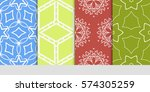 set of decorative floral... | Shutterstock .eps vector #574305259
