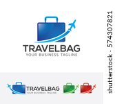 travel bag  holiday  vacation ... | Shutterstock .eps vector #574307821