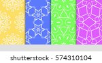set of floral ornament.... | Shutterstock .eps vector #574310104