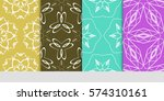 set of floral ornament.... | Shutterstock .eps vector #574310161