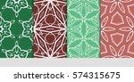 set of decorative geometric... | Shutterstock .eps vector #574315675