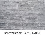grey stone wall background.... | Shutterstock . vector #574316881