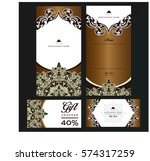 vector thai food restaurant... | Shutterstock .eps vector #574317259