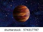 original exotic fantasy orange... | Shutterstock . vector #574317787
