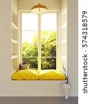 interior mockup illustration ... | Shutterstock . vector #574318579