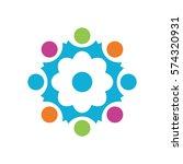 organization logo template | Shutterstock .eps vector #574320931