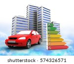 3d illustration of car over... | Shutterstock . vector #574326571