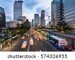 traffic rushes in jakarta... | Shutterstock . vector #574326955