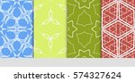 set of lace seamless pattern....   Shutterstock .eps vector #574327624