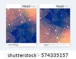 scientific brochure design...   Shutterstock .eps vector #574335157