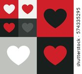 heart icon vector. love symbol. ...   Shutterstock .eps vector #574335295