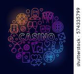 colorful casino round... | Shutterstock .eps vector #574335799