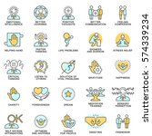icons psychological features of ... | Shutterstock .eps vector #574339234