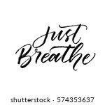 Just Breathe Postcard. Ink...