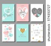 valentine s day creative... | Shutterstock .eps vector #574353727