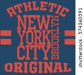 new york sport typography t... | Shutterstock .eps vector #574360591