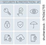 security  business data... | Shutterstock .eps vector #574361755